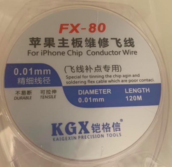 FX 80 Durable Tensile KGX Kaigexin Precision Tool 120M 0.01mm