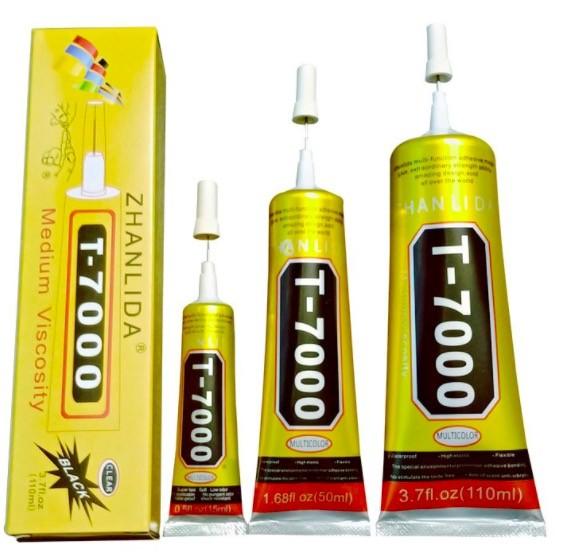 T7000 Klebstoffe Mehrzweck 100ml 50ml 15ml Klebstoffe Super Klebstoffe T-7000 Schwarz Flüssigkeit Ep