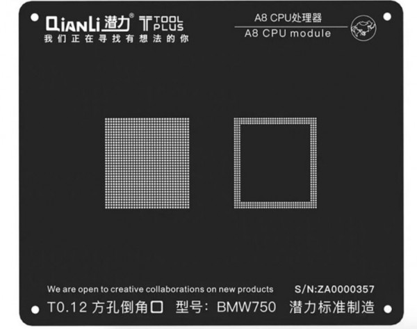 QianLi 2D CPU Prozessor A7/A8/A9/A10/A11 Modul BGA Reballing Schwarz Schablone Anlage zinn Stahl Net