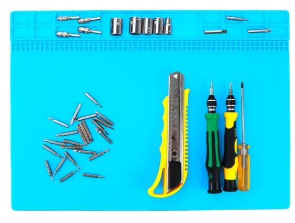 Löten Reparatur Plattform Wärme Isolierung Pad 35x25cm Silikonmatte Lötmatte